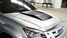 MATT BLACK BONNET SCOOP VENT COVER FOR ISUZU DMAX D-MAX 2012 2013 2014 15 PICKUP