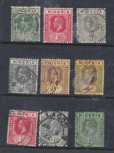 Nigeria 1914-27 Used Part Set Definitives to 1s King George V KGV Portrait MCA