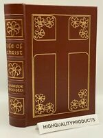 Easton Press THE LIFE OF JESUS CHRIST Biography Ricciotti Bible VINTAGE Leather