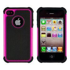 Housses et coques anti-chocs roses iPhone 4 pour téléphone mobile et assistant personnel (PDA)