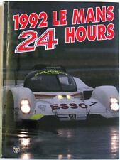 LE MANS 24 HOURS 1992 YEARBOOK / ANNUAL MOITY TEISSEDRE BOOK ISBN:0951284053