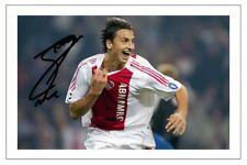 Zlatan Ibrahimovic Ajax autógrafo firmado foto impresión de fútbol