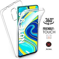 FUNDA GEL TPU + PC DURA DOBLE CARA 360º XIAOMI REDMI NOTE 9S /9 PRO TRANSPARENTE