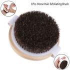 1X Wood Natural Horse Hair Bath Body Brush Cellulite Shower Dry'Skin ExfoliaoFEH