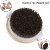 1X Wood Natural Horse Hair Bath Body Brush Cellulite Shower Dry Skin ExfoliatiDN