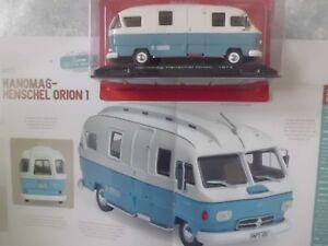"""CAMPING-CARS ALLEMAND """"L'HANOMAG-HENSCHEL"""" ORION 1 (1969-1974)-(1/43éme)."""