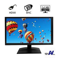 "Full HD 18.5"" Surveillance Security Monitor LED LCD Display HDMI Looping BNC"