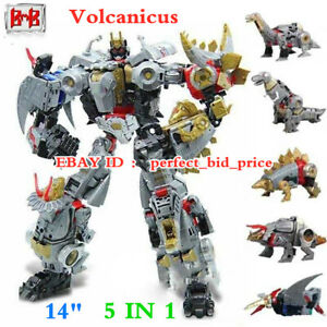 """New Robot Volcanicus 5 IN 1 BMB Power of the Primes Alloy Action Figure 14"""" Toys"""