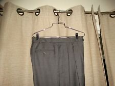 ZANELLA 30 x 32 gray year round wool pants pleated cuffed excellent
