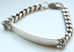 Antiquarian Sterling Silver Cuban Link Massive Bracelet