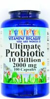2000mg Ultimate Probiotic 10 Billion 100 Capsules Acidophilus Immune Support VB