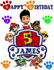 Personalized Paw Patrol  T-shirt. Paw patrol Birthday t shirt