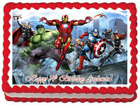 "THE AVENGERS Comics Edible image Cake topper-7.5""x10"""