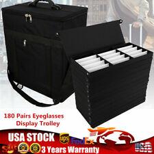 Portable 180slot Eyeglasses Display Box Trolley Box Glasses Display Storage Box