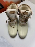Nwob - Women's Sperry Top Sider Saltwater Rose oatmeal Duck Boots Size 9