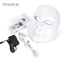 7 Colors LED Light Photon Face Mask Skin Rejuvenation Anti Wrinkle Acne Therapy.