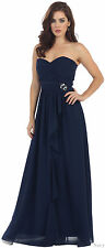 NEW STRAPLESS MARINE CORPS MILITARY BALL DRESS EVENING FORMAL PROM GOWN BIRTHDAY