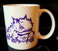 TCU Horn Frog Coffee Mug Fort Worth Texas Purple and White