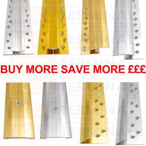 Carpet Metals Cover Strip - Door Bar Trim - Threshold - Edge Silver & Brass