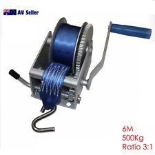 500Kg Hand Winch 1100LB Webbing 6M 3:1 Marine Boat Trailer 4WD 99013007