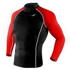 Take Five Mens Skin Tight Compression Base Layer Running Shirt S~2Xl Black 052