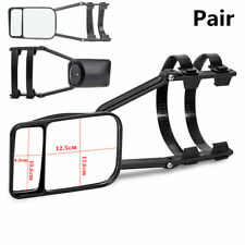 Pair Adjustable Dual Mirror Clip-on Trailer Wing Extension Towing Mirror Glasses