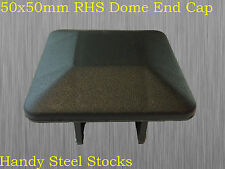 Fence Post Cap Square Domed End Quality Suits 50x50mm Tube RHS Pipe End Cap