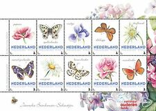 Paises Basos 2016  Marposa - flores  1 bloque   menta                   s