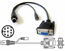Mini DIN 8-pin To VGA Video Audio Input/Output Adapter Cable