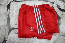 ADIDAS  Franz Beckenbauer _ VINTAGE SHORTS _ 1980s'  Shiny Nylon Sprinter Short
