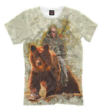 Путин New Funny t-shirt Russia Putin ridding on the bear President 455867