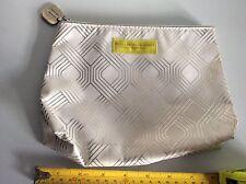 WHITE SILVER BETTY JACKSON BLACK CLINIQUE MAKE UP CLUTCH BAG COSMETIC PURSE vgc