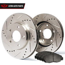 2009 2010 2011 Toyota Matrix 1.8L (Slotted Drilled) Rotors Metallic Pads F