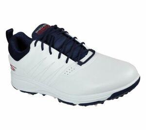 Skechers GO GOLF Torque Pro 214002 Waterproof Golf Shoe - White/Navy