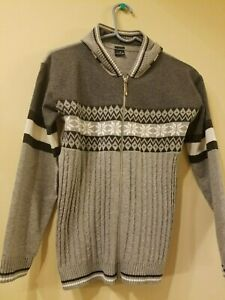 Boys gray hooded sweater with full zipper PASA KIDS CLUB size 7 made in Turkey