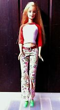 New Fashion Barbie Doll - School Cool - 2000. No box. Flowered Jeans.