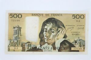 billet 500 francs Pascal 4-1-1968