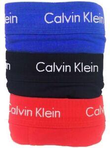 Calvin Klein Men's 3 Pack Underwear Cotton Stretch Boxer Brief Trunks