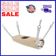 Tunnel Hamster Hammock for Small Animals Tunnel Tube Rat Ferret Toy Soft Leather