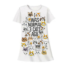 I Was Normal 3 Cats Ago Nightshirt Sleepshirt