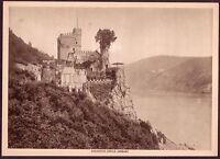 1910s Antique Vintage Germany Rheinstein Castle Rhine Photo Gravure Print
