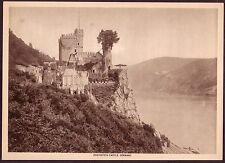 Antique Rheinstein Castle Rhine Germany Photo Gravure Print
