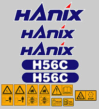 Hanix H56C Digger completa Decal Sticker Set con calcomanías de advertencia de seguridad