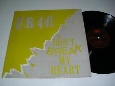 """UB40 Don't Break My Heart - PORTUGAL 12"""" MAXI Single - RARE PORTUGUESE RELEASE"""