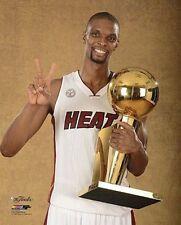 2013 CHRIS BOSH Miami Heat Finals CHAMPS LICENSED un-signed poster 8x10 photo