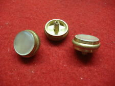 New King Trumpet or Cornet Brass Finger Buttons with Pearl! Set of 3!