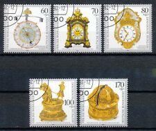 Bundespost 1631-1635 gestempeld motief klokken