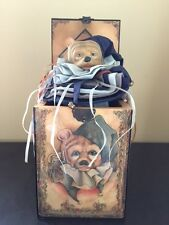 "Bear Music Box ""Jingle Bear"" Jack-In-The-Box, 1985 Enesco, Artist FAITH WICK"