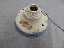 Vtg Flush Mount Porcelain Ceiling Light Shabby Floral Rose Chic Sconce 5077-15