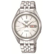 SEIKO 5 SNKL15 SNKL15K1 Automatic 21 Jewels White Dial Stainless Steel Men Watch